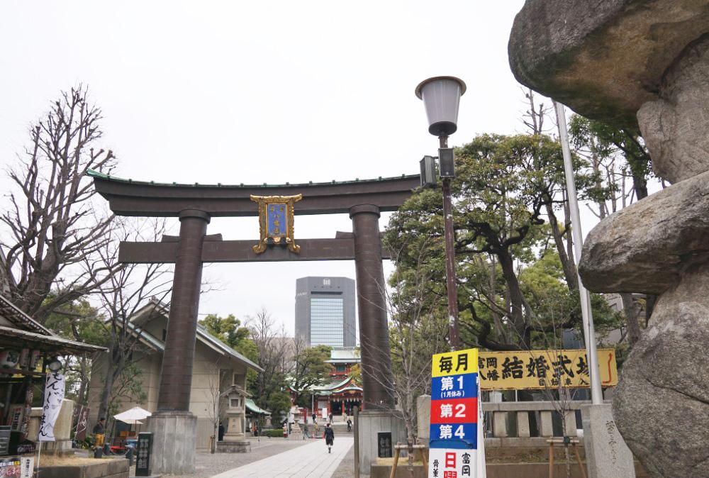 画像 富岡八幡宮の鳥居