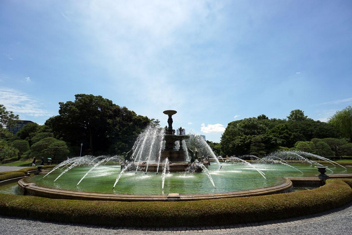 画像 迎賓館の主庭の噴水