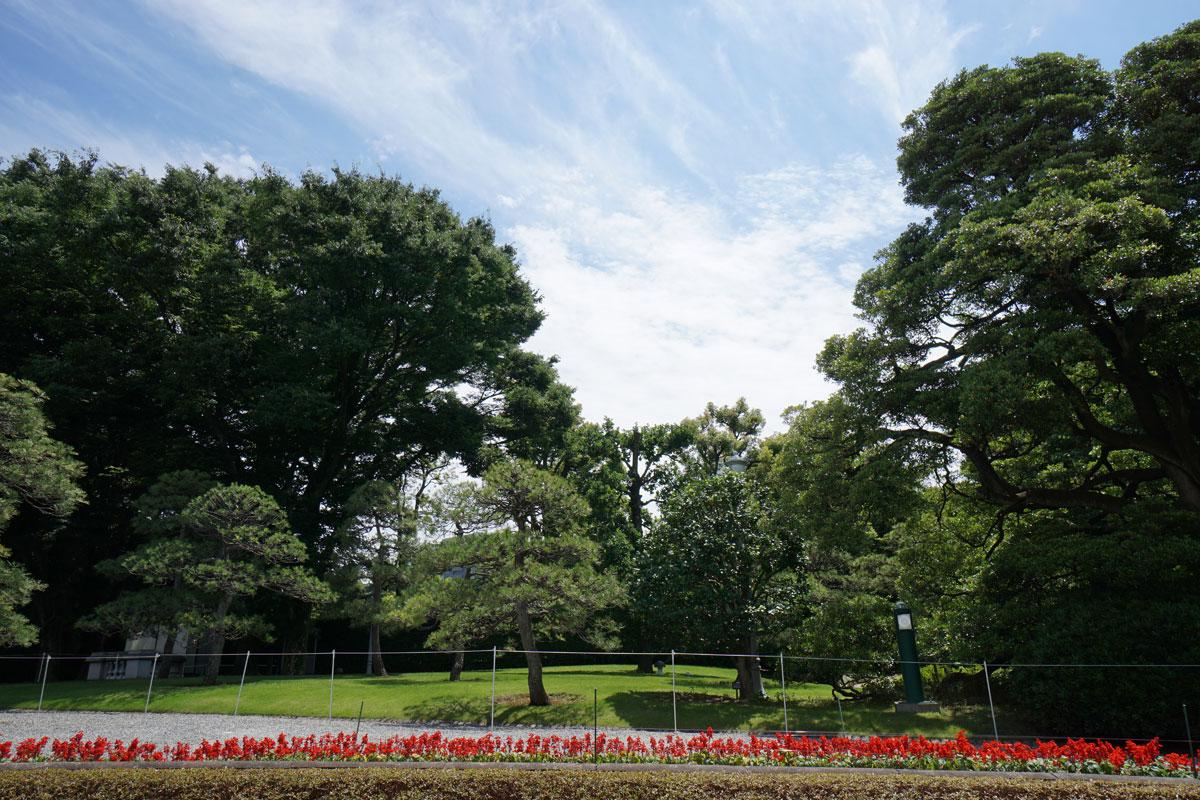 画像 迎賓館の主庭から和風別館方面の風景