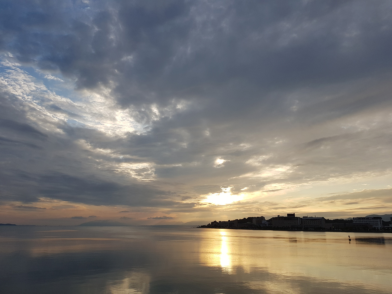 画像 宍道湖の夕焼け